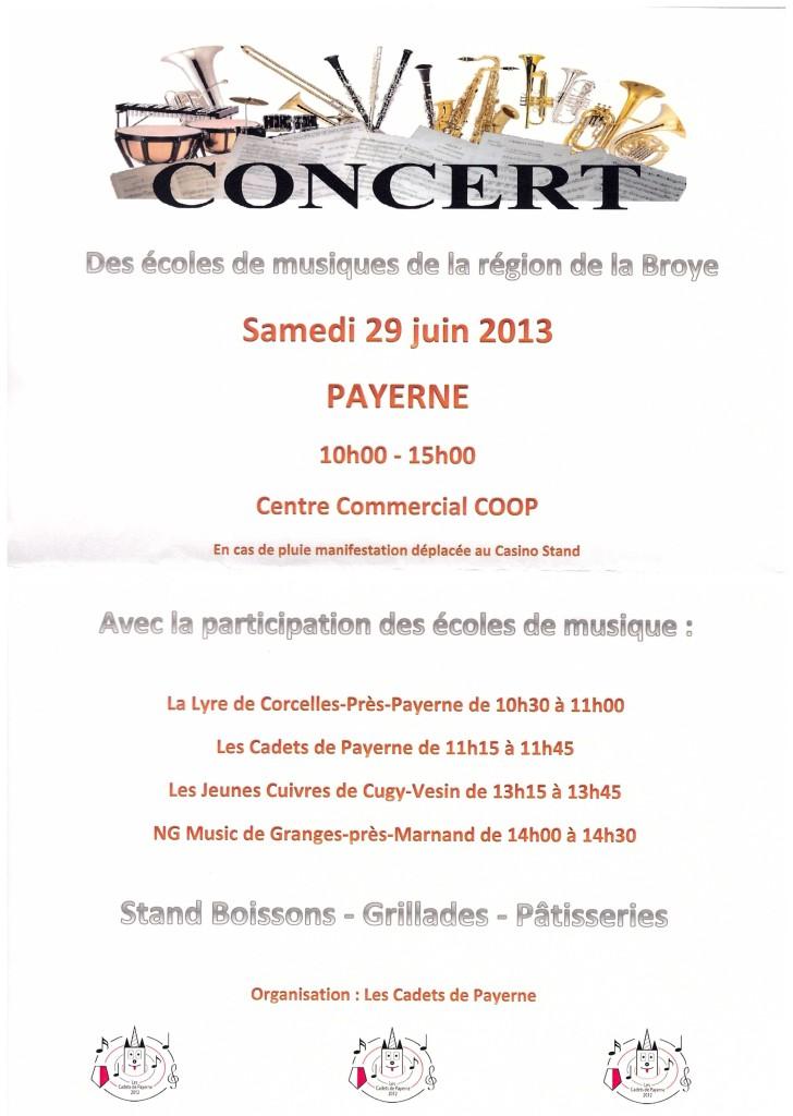 affiche prestation 29 juin Payerne