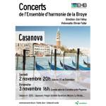 Concerts de l'EHB les 2 et 3 novembre