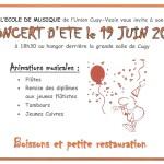 Concert d'été le 19 juin 2015 à 18h30