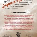Souper fondue Énigmes et Mystères 26 et 27 février 2016