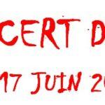 Concert d'été le 17 juin 2016